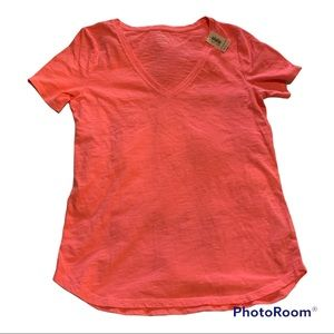 3 for $30 Neon Pink V Neck Tee Size XS